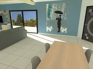 Aménagement d'un salon - séjour: Salon de style de style Moderne par Atelier Créa' Design