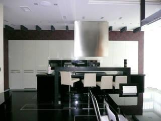 Квартира на Воробьёвых горах Кухня в стиле модерн от АрхХаусСтрой Модерн