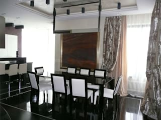 Квартира на Воробьёвых горах Столовая комната в стиле модерн от АрхХаусСтрой Модерн