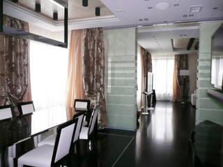 Квартира на Воробьёвых горах Гостиная в стиле модерн от АрхХаусСтрой Модерн