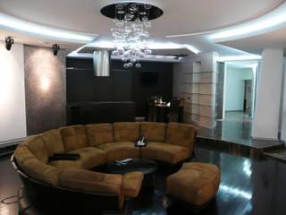 Квартира на Можайском шоссе Гостиная в стиле модерн от АрхХаусСтрой Модерн