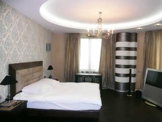 Квартира на Можайском шоссе Спальня в стиле модерн от АрхХаусСтрой Модерн