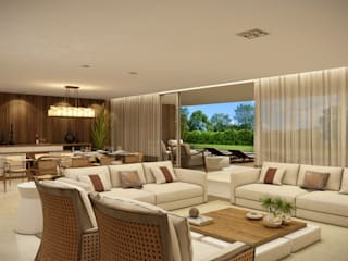 Modern Living Room by Infinity Spaces Modern
