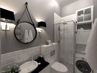 Mieszkanie w stylu Skandynawskim: styl , w kategorii Łazienka zaprojektowany przez BMP Studio Architektoniczne
