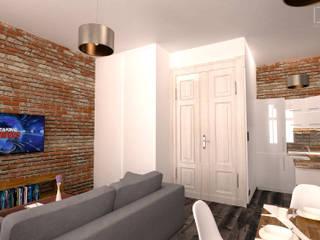 Mieszkanie w stylu Industrialnym: styl , w kategorii Salon zaprojektowany przez BMP Studio Architektoniczne