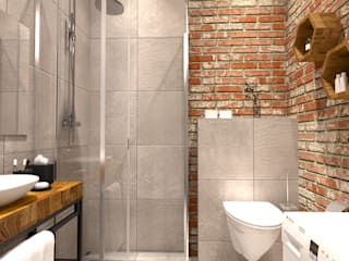 Mieszkanie w stylu Industrialnym: styl , w kategorii Łazienka zaprojektowany przez BMP Studio Architektoniczne