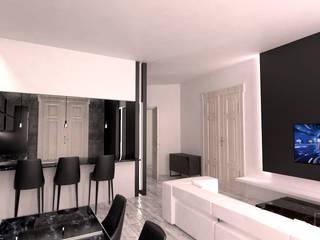 Mieszkanie w stylu nowoczesnym - modern: styl , w kategorii Salon zaprojektowany przez BMP Studio Architektoniczne