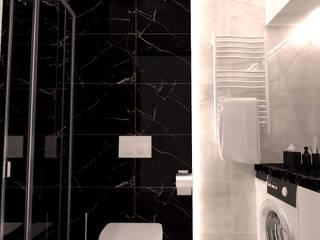 Mieszkanie w stylu nowoczesnym - modern: styl , w kategorii Łazienka zaprojektowany przez BMP Studio Architektoniczne