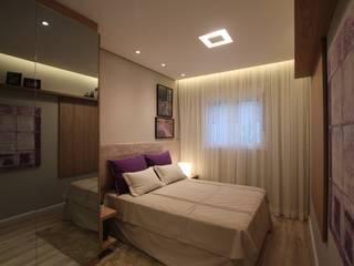 Pricila Dalzochio Arquitetura e Interiores Dormitorios modernos Morado/Violeta