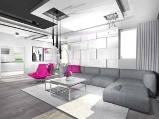 dom - łódź Nowoczesny salon od Room19 -studio projektowania wnętrz Nowoczesny