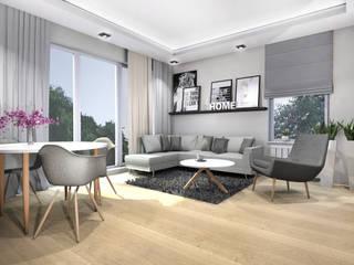 Mieszkanie - Warszawa, Bemowo: styl , w kategorii Salon zaprojektowany przez Room19 -studio projektowania wnętrz