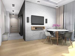 Mieszkanie - Warszawa, Bemowo Skandynawski salon od Room19 -studio projektowania wnętrz Skandynawski