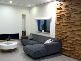 dom pod Warszawą Skandynawski salon od Room19 -studio projektowania wnętrz Skandynawski