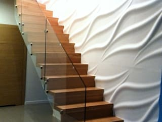 dom pod Warszawą Nowoczesny korytarz, przedpokój i schody od Room19 -studio projektowania wnętrz Nowoczesny