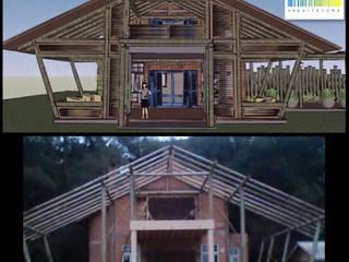 Cabana CG - Lagoa Vermelha/RS Casas rústicas por VIALIVIALI Arquitetura Rústico