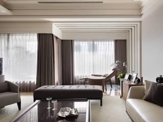 居悅 大荷室內裝修設計工程有限公司 现代客厅設計點子、靈感 & 圖片