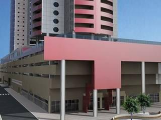 Centro Comenrcial e Flat Hotel - Ed. Multifuncional - Balneário Camboriú Casas modernas por VIALIVIALI Arquitetura Moderno