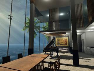 Modern dining room by SG Huerta Arquitecto Cancun Modern