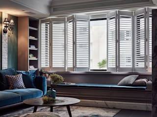 DYD INTERIOR大漾帝國際室內裝修有限公司 Living room Marble Blue