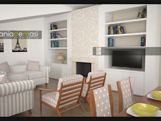Living room by melania de masi architetto,