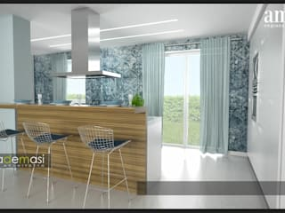 Modern kitchen by melania de masi architetto Modern