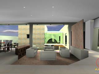 Salon minimaliste par SG Huerta Arquitecto Cancun Minimaliste