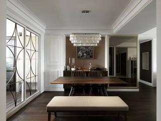 ห้องทานข้าว โดย 大荷室內裝修設計工程有限公司,