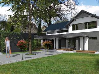 Dom jednorodzinny House_&_SPACE Klasyczne domy od ABC Pracownia Projektowa Bożena Nosiła Klasyczny