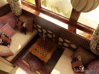 Студия интерьера Дениса Серова Classic style balcony, veranda & terrace