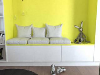 Dormitorios infantiles de estilo moderno de Pracownia Projektowania Wnętrz Karolina Czapla Moderno