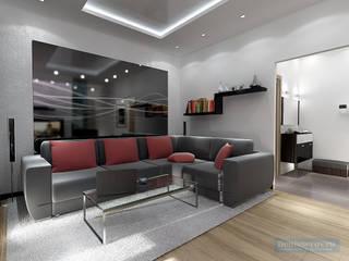 Студия интерьера Дениса Серова Minimalist living room