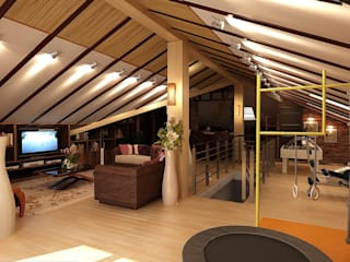 Студия интерьера Дениса Серова Eclectic style balcony, veranda & terrace