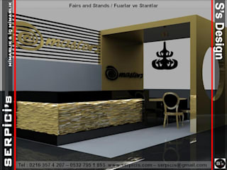 SERPİCİ's Mimarlık ve İç Mimarlık Architecture and INTERIOR DESIGN Sedi per eventi moderne Legno Ambra/Oro