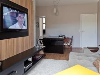 Столовая комната в стиле модерн от Cia de Arquitetura Модерн