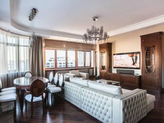 Квартира в ЖК 4 Солнца: Гостиная в . Автор – Технологии дизайна, Классический