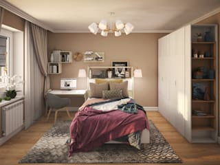 Eclectic style bedroom by КS-Interiors Eclectic