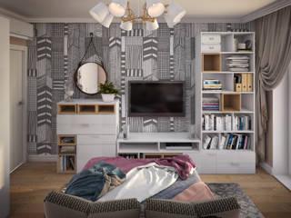 Нагатинская Набережная: Спальни в . Автор – КS-Interiors