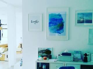 FLOW STUDIO PILATES WELLNESS Lojas e Espaços comerciais minimalistas por PLURALLINES - Ideias, Projectos e Gestão Lda Minimalista