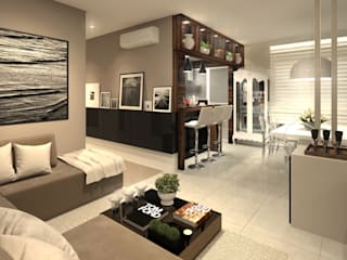 Salones de estilo moderno de Marina Ortiz - mo arquitetura Moderno