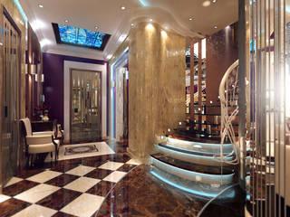 Студия интерьера Дениса Серова Classic style corridor, hallway and stairs