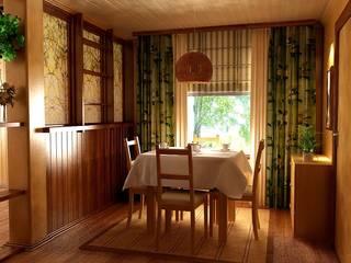 Студия интерьера Дениса Серова Country style dining room