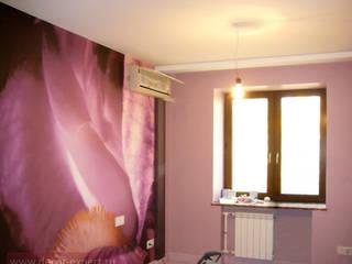 Текстильный декор в пурпурную комнату для девочки. Тольятти, автозаводской район. от Студия Декор-эксперт
