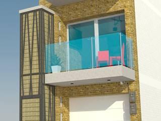 Fachada frontal: Casas de estilo  por TALLER 9, ARQUITECTURA