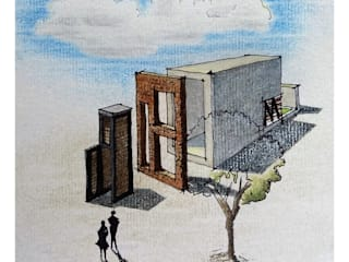 Boceto.: Casas de estilo  por TALLER 9, ARQUITECTURA