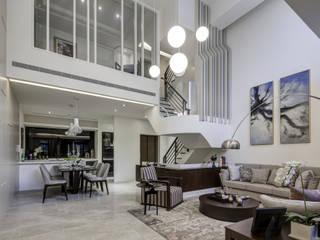 三代同堂度假別墅:  客廳 by 大荷室內裝修設計工程有限公司
