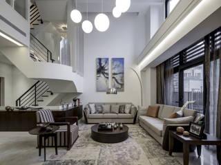 大荷室內裝修設計工程有限公司 Nowoczesny salon