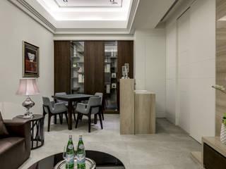 三代同堂度假別墅:  視聽室 by 大荷室內裝修設計工程有限公司