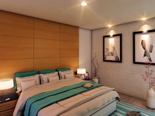 Bedroom by GRUPO ESCALA ARQUITECTOS, Modern