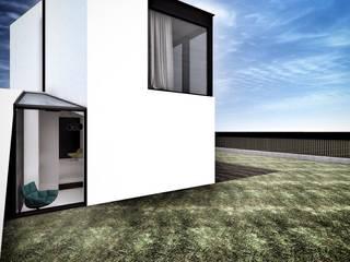 nowoczesny DOM jednorodzinny - Lesznowola k. Warszawy Minimalistyczne domy od katarzyna kmita / ARCHITEKT Minimalistyczny