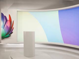 UPC TV Studio destilat Design Studio GmbH Moderne Geschäftsräume & Stores